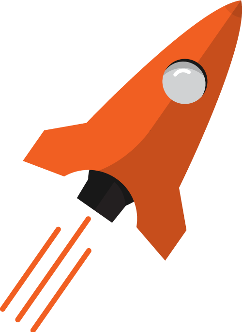 SEOmers bright orange rocket
