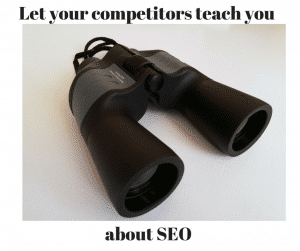 Competitors teach you SEO