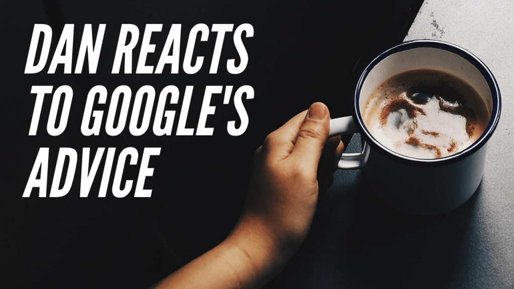 Google's Advice SEO reaction.